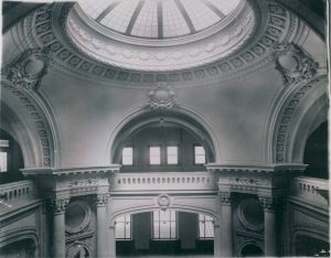 Historic view of the Central Library Rotunda