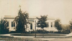 Photograph of the Forest Park Branch Library circa 1909