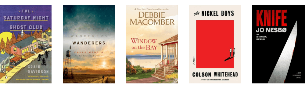 July 2019 New Fiction covers