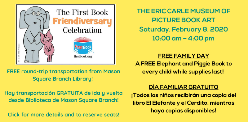 Free Bus to Eric Carle Museum Family Day February 8