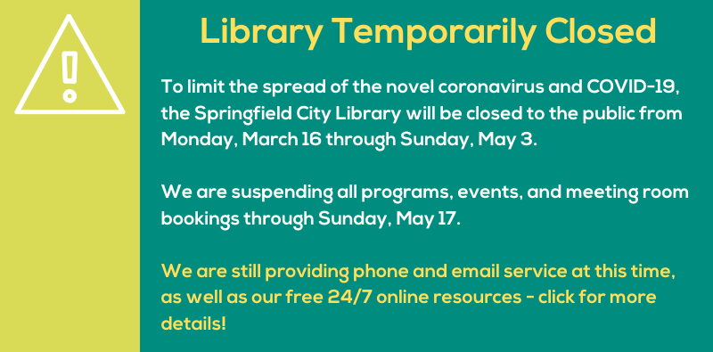 Library Closed Through May 3