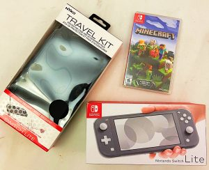 Nintendo Switch Lite and case and Minecraft Game