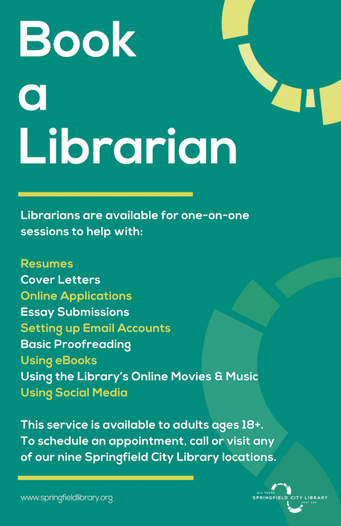 Book A Librarian | Springfield City Library